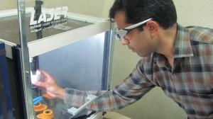 لیزر تحقیقاتی CO2 با توان 100 وات ، نصب شده در دانشگاه صنعتی نوشیروانی بابل